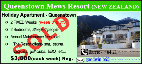 Queenstown Mews Resort - $3000 - SOLD
