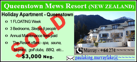 Queenstown Mews Resort - $3000