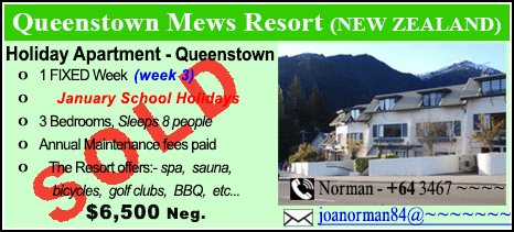 Queenstown Mews Resort - $6500 - SOLD