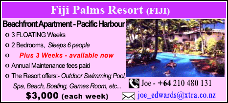 Fiji Palms Beach Club - $3000
