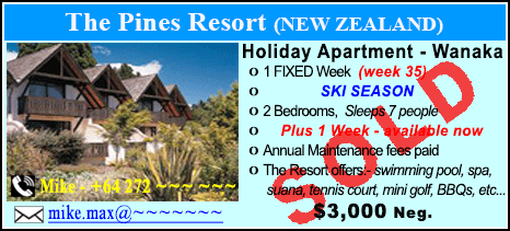 The Pines Resort - $3000 - SOLD
