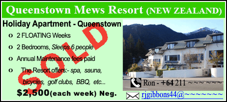 Queenstown Mews Resort - $2500 - SOLD