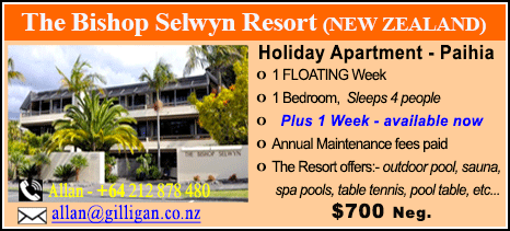 The Bishop Selwyn Resort - $700