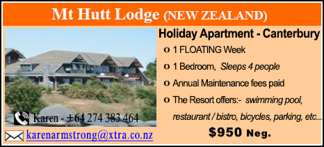 Mt Hutt Lodge - $950