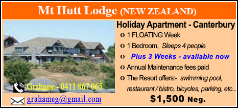 Mt Hutt Lodge - $1500