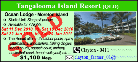 Tangalooma Wild Dolphin Resort - $1100 - SOLD