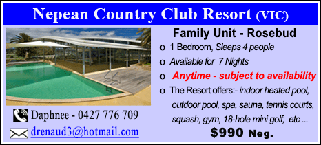 Nepean Country Club - $990