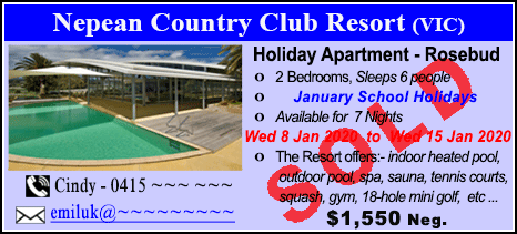 Nepean Country Club - $1550 - SOLD