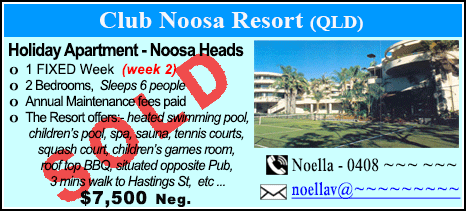 Club Noosa Resort - $7500 - SOLD