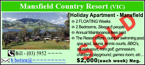 Mansfield Country Resort - $2000 - SOLD