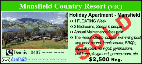 Mansfield Country Resort - $2500 - SOLD