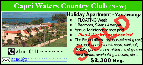 Capri Waters Country Club - $2300 - SOLD