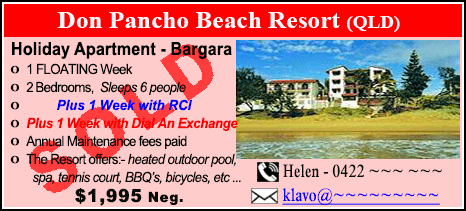 Don Pancho Beach Resort - $1995 - SOLD
