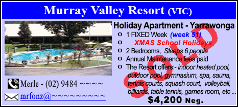 Murray Valley Resort - $4200 - SOLD