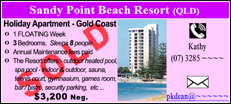 Sandy Point Beach Resort - $3200 - SOLD