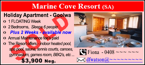 Marine Cove Resort - $3900 - SOLD