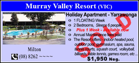 Murray Valley Resort - $1950 - SOLD