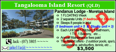 Tangalooma Island Resort  - $3500 - SOLD