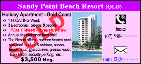 Sandy Point Beach Resort - $3500 - SOLD