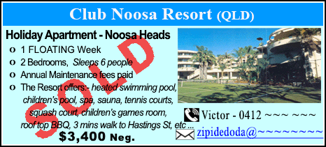 Club Noosa Resort - $3400 - SOLD