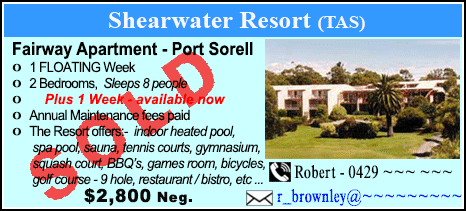 Shearwater Country Club - $2800 - SOLD
