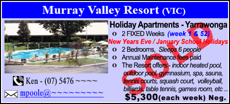 Murray Valley Resort - $5300 - SOLD