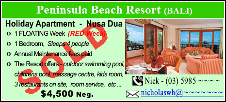 Peninsula Beach Resort - $4500 - SOLD