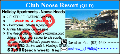Club Noosa Resort - $3500 - SOLD