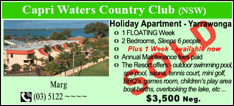 Capri Waters Country Club - $3500 - SOLD