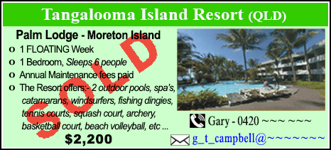Tangalooma Island Resort  - $2200 - SOLD