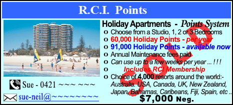 R.C.I. Points - $7000 - SOLD