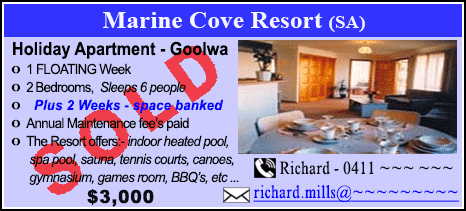 Marine Cove Resort - $3000 - SOLD