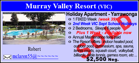 Murray Valley Resort - $2500 - SOLD