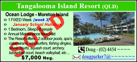 Tangalooma Island Resort  - $7000 - SOLD