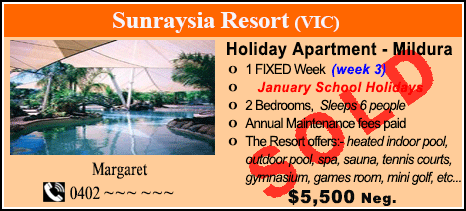 Sunraysia Resort - $5500 - SOLD