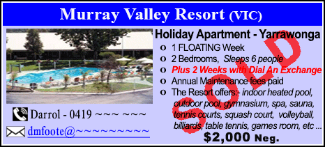 Murray Valley Resort - $2000 - SOLD