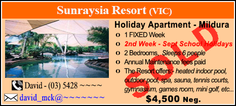 Sunraysia Resort - $4500 - SOLD
