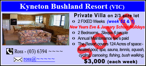 Kyneton Bushland Resort - $3000 - SOLD
