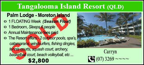 Tangalooma Island Resort - $2800 - SOLD