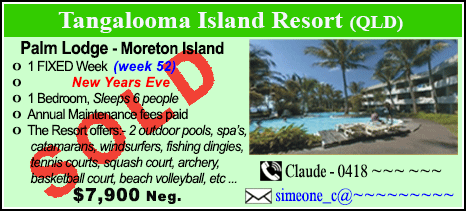 Tangalooma Island Resort  - $7900 - SOLD