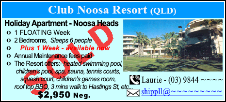 Club Noosa Resort - $2950 - SOLD