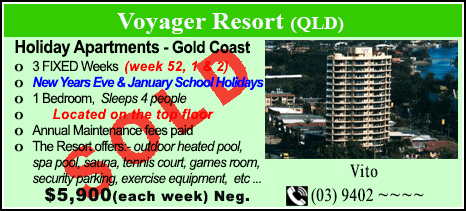 Voyager Resort - $5900 - SOLD