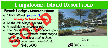Tangalooma Island Resort - $4500 - SOLD