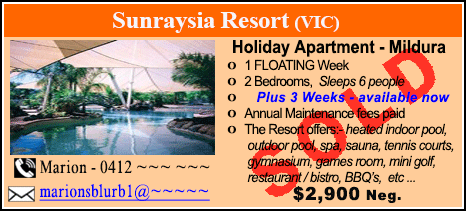 Sunraysia Resort - $2900 - SOLD