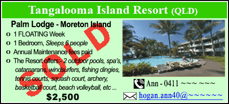 Tangalooma Island Resort - $2500 - SOLD