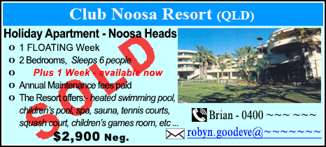 Club Noosa Resort - $2900 - SOLD
