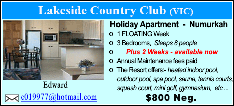 Lakeside Country Club - $800