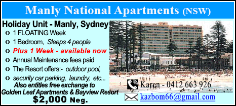 Manly National Apartments - $2000