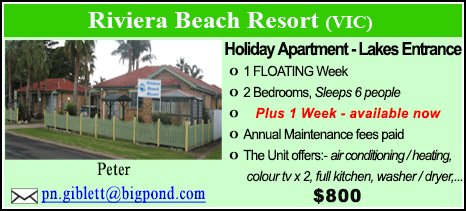 Riviera Beach Resort - $800
