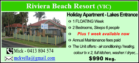 Riviera Beach Resort - $990